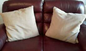 Suedette cushions x2