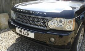 """Black Range Rover Vogue 2007 with 22"""" Alloy Wheels, Tow Bar, Cream Leather Interior"""