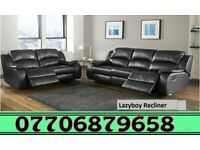 BRAND NEW 3 + 2 RECLINER SOFA BLACK OR BROWN