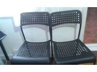 2 Black Ikea Adde chairs - stackable £6