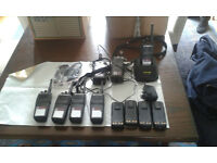 Motorola Radios DP3400 x5, charger,2 cases,2 earpieces, spare batteries