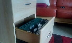 Storage Cabinet/ Filing Cabinet. Two large drawers. Includes suspended files.