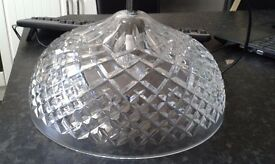 LARGE WATERFORD CRYSTAL SHADE