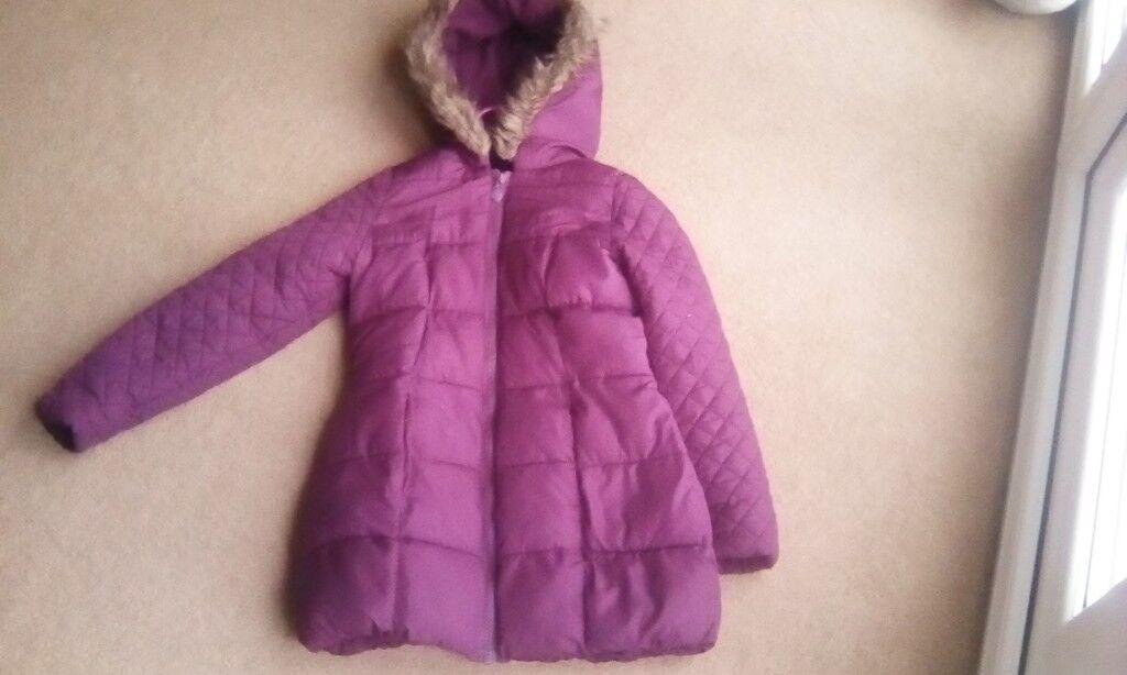 Girls age 9-10 maroon winter coat