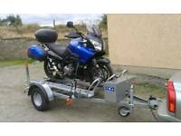 Triple motor bike moving trailers