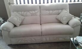 Sofa, 2 large settee and electric recliner