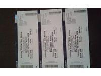 3 tickets lower tier Block 115 Row L seats 26,27,28