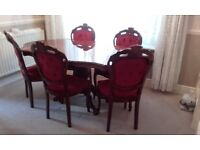 Italian Dinning Room Table and Chairs