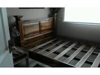 Kingsize indian shesham bed frame