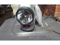 Hilka tyre pressure compresser and torch. Plugs in car socket.