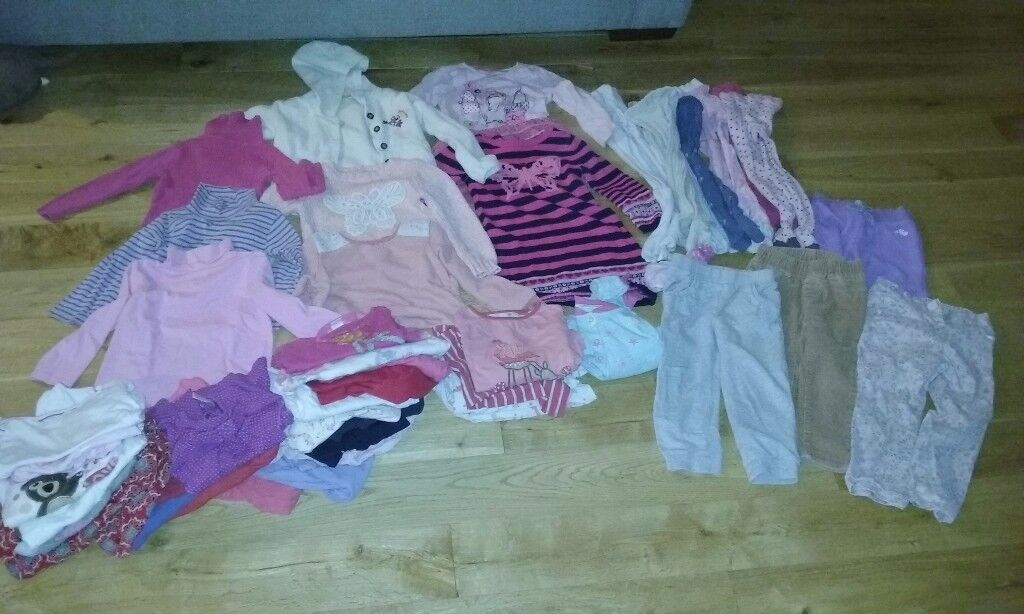 Girl's winter clothes bundle 2-3yrs old approx 40 items