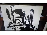 Signed star wars canvas