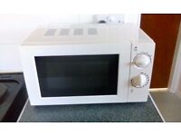 REDUCED FOR QUICK SALE - 700W White Microwave