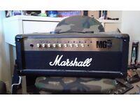 Marshall MG 100FX amp head w/ foot switch