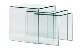 Habitat Glass Coffee Table and Side Tables