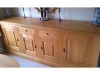 Carnac French Oak Sideboard, 4 Door, 2 Drawer, £1000