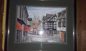 Framed print of Christchurch.