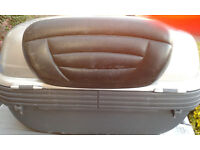 Givi Motorcycle top box and plate.