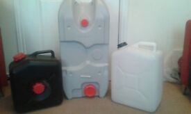 Various water carriers/containers
