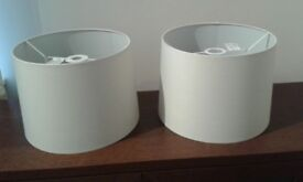 As new lampshade/s in attractive neutral stone fabric suitable for ceiling or lamp