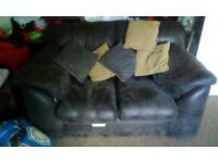 2 2 seater sofa's in dark charcoal coulor