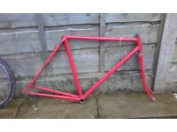 Reynolds 531 Road bike frame commuter audax touring - fixed gear wheel fixie