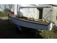 GP14 fibreglass boat with trailer