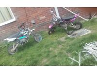 120cc thumpster & 125cc pitbike