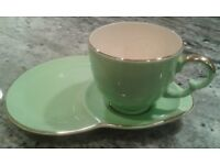 Vintage Crown Devon tea cup and cake/buffet plate