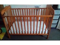 Baby cot drop side 'Toys r us' 61x122cm with mattress Ikea