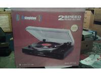 Brand new Steepletone record player