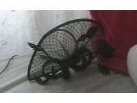 Head piece (fascinator) Black