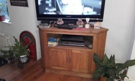 Oak tv unit.solid piece of furniture