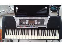 Yamaha PSR 350 Keyboard, power lead, stand, case, foot pedal inc.