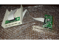 USB 2.0 2 Port PCI Card & 4 Port Front Panel Hub with connector cable