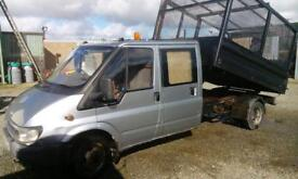 Ford transit full cage tipper t&t