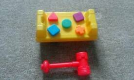Fisher Price shapes & hammer