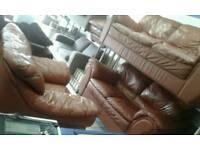 Ex display land of leather sofas