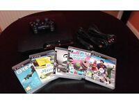 PS3 SLIM + 5 GAMES