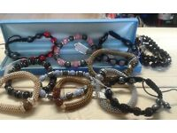 Variety of Shamballa braceletes, various prices from £1.50 - £5.00.