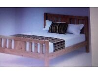 Double oak bed from Bensons4bed