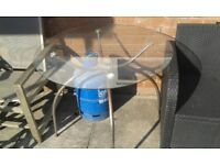 Glass Top Table - Free