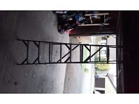 PAINTERS STEP LADDER - 9 FEET HIGH - WELL USED