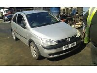 2001 Vauxhall Corsa 1.0 12v club 3dr silver z 147 83u BREAKING FOR SPARES