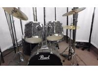 Fancy something different? Pearl Export 'Fur covered' drum kit complete.
