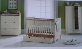Babystart classic two-tone cot. From newborn onwards