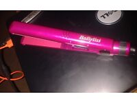 Babyliss mini pink pro hair straightners