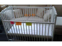 Dropside COT..Adjustable height... BRAND NEW... With New Mattress...FREE LOCAL DELIVERY