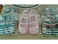 Baby girls shoes.