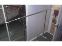 chrome clothes rail with shoe rack